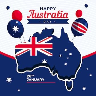 Australien tag im flachen design