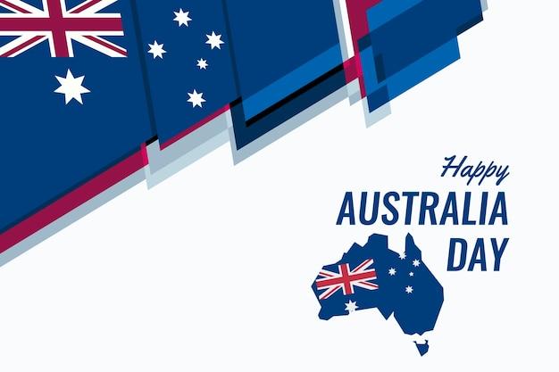 Australien tag im flat design