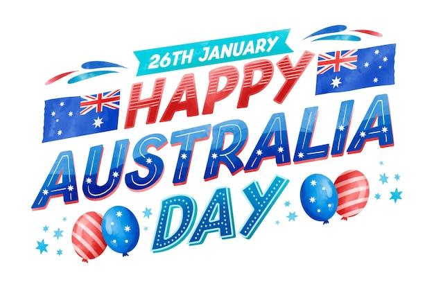 Australien tag - schriftzug