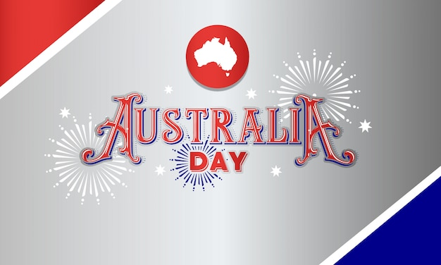 Australien tag typografie banner