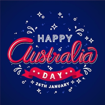 Australien-tagesbeschriftungskonzept