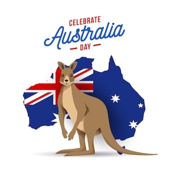 Australien-tagesflache designillustration