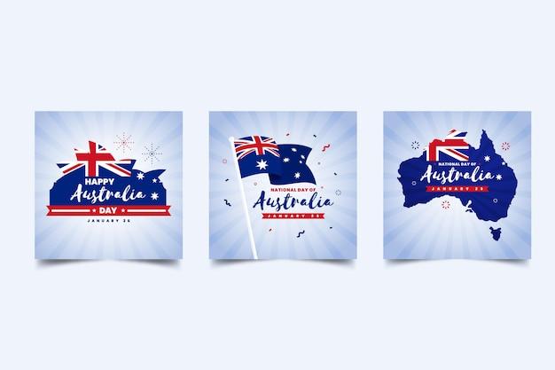Australien tagesgrußkarten gesetzt