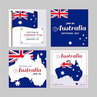 Australien-tagesgrußkartensammlung