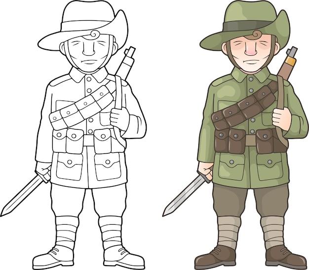 Australischer soldat, weltkrieg