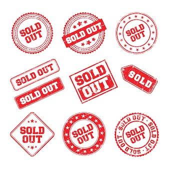 Ausverkaufte logo-abzeichen