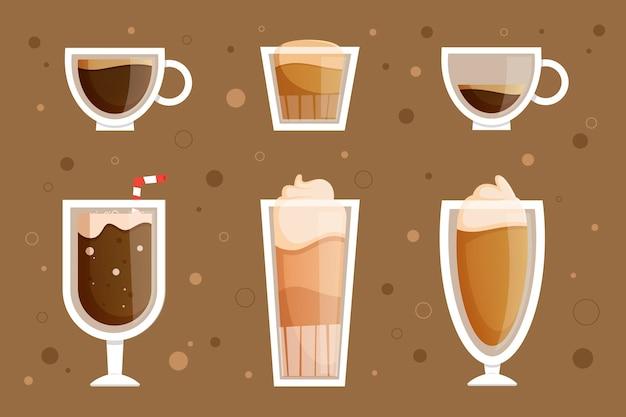 Auswahl an kaffeesorten