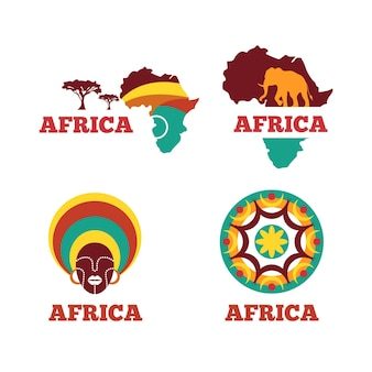 Auswahl des afrika-kartenlogos