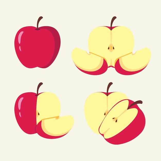 Auswahl eines apfelfrucht-vecto