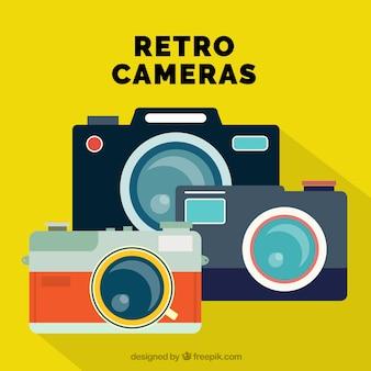 Auswahl von drei retro-kameras