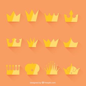 Auswahl von kronen im minimalistischen stil