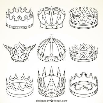Auswahl von neun luxus-kronen