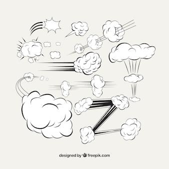 Auswirkungen von der hand gezeichnet comic