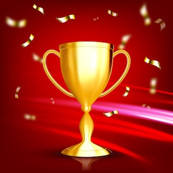 Auszeichnung goldener pokal