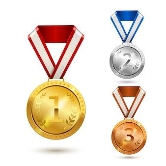Auszeichnung medaillen gesetzt