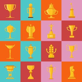 Auszeichnungen icons set