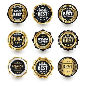 Auszeichnungen oder beste produktabzeichen