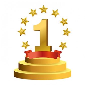 Auszeichnungssymbol für den ersten platz