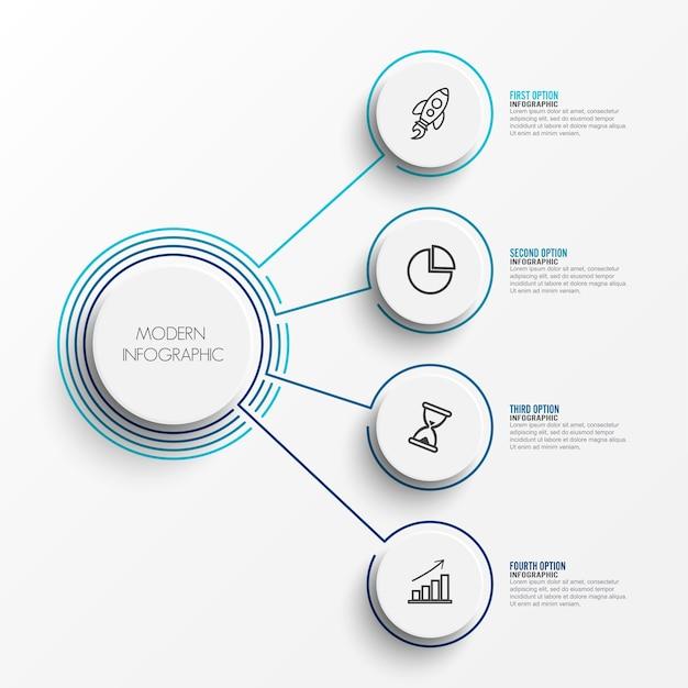 Auszug der infographic schablone
