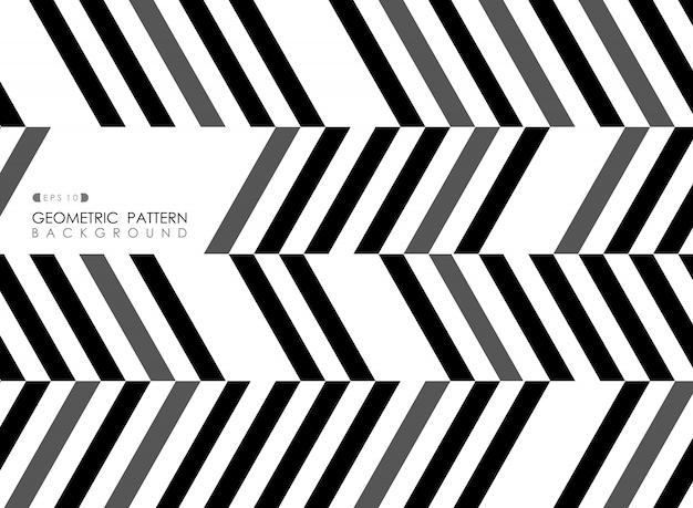 Auszug der streifenlinie schwarzes graues weißes muster