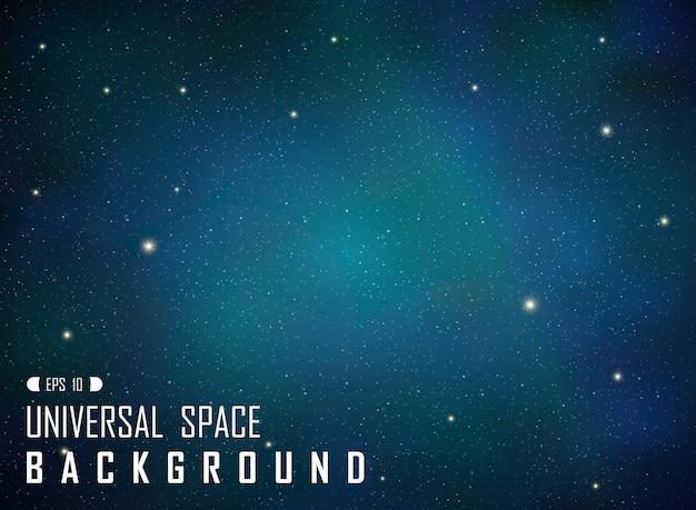 Auszug des dunklen realistischen blauen galaxiehintergrundes mit funkeln.
