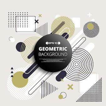 Auszug des geometrischen musterhintergrundes mit raum in der mitte.