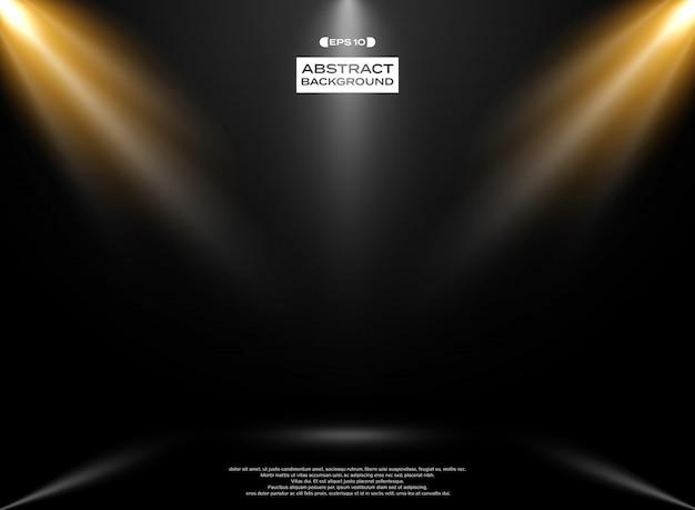 Auszug des lichtstudioraumes
