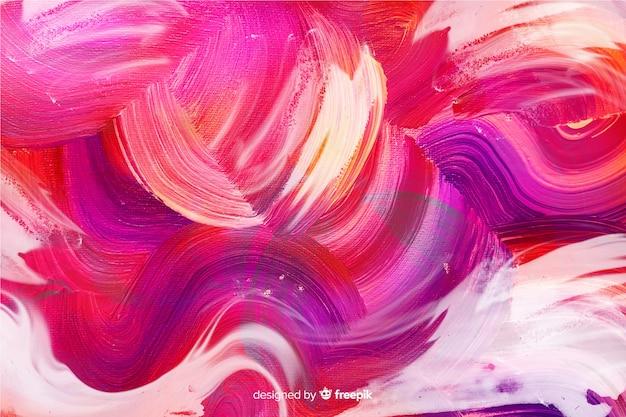 Auszug gemalter pinsel streicht hintergrund
