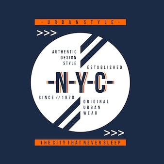 Authentische idee typografie t-shirt-design