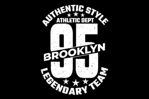 Authentischer stil brooklyn legendärer vintage-stil