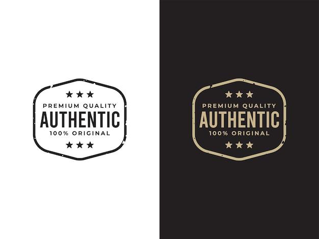 Authentisches etikettendesignkonzept in premiumqualität