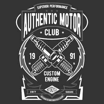 Authentisches motorrad Premium Vektoren