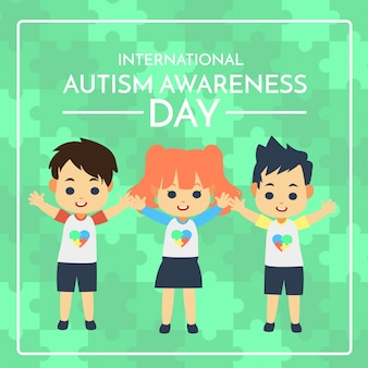 Autismus bewusstseinstag abbildung