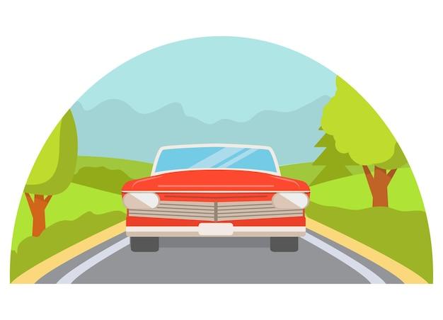 Auto auf der straße vorderansicht
