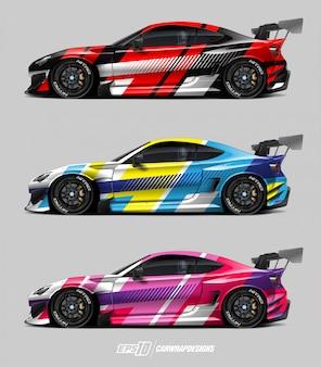 Auto aufkleber design set
