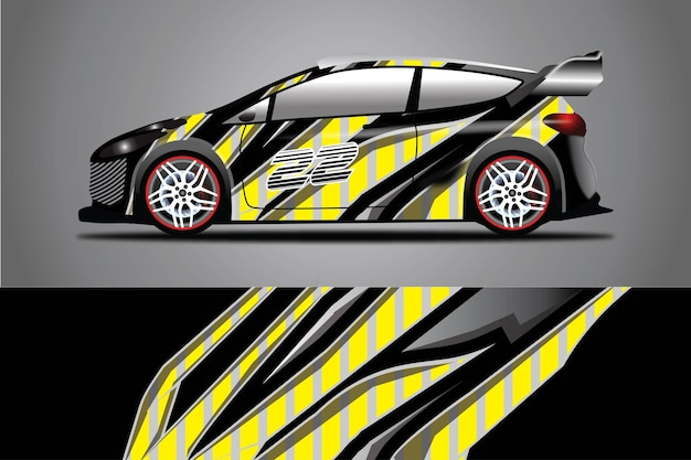 Auto aufkleber wrap design vektor