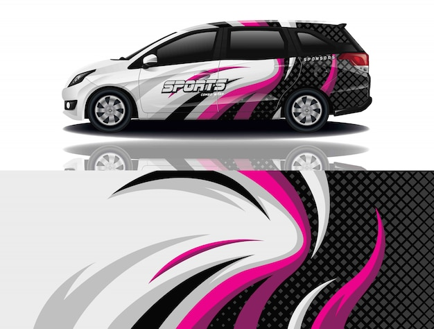 Auto aufkleber wrap design
