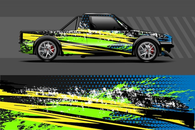 Auto aufkleber wrap illustration