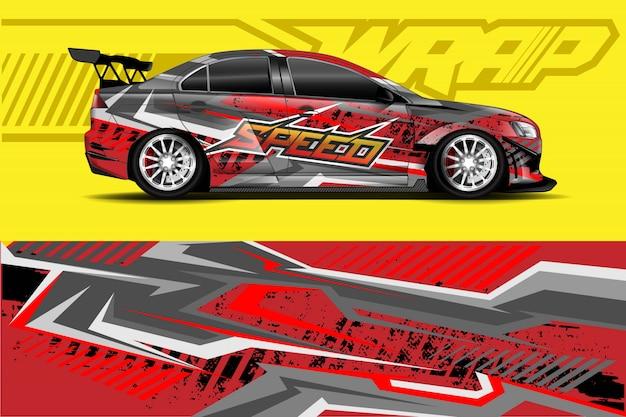 Auto aufkleber wrap illustration