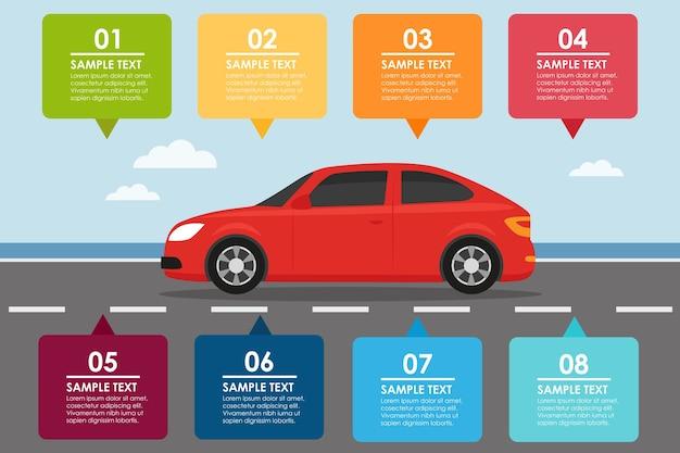 Auto banner infografik.