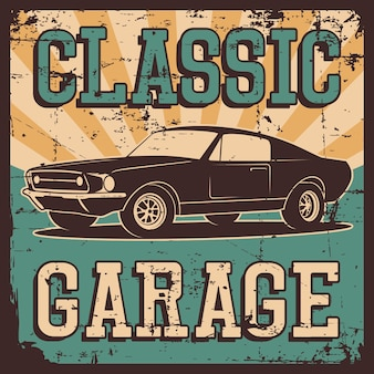 Auto beschilderung garage