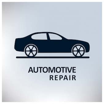 Auto Center Auto Repair Service Auto Grauer Hintergrund