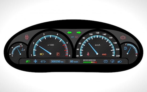 Auto-dashboard isoliert