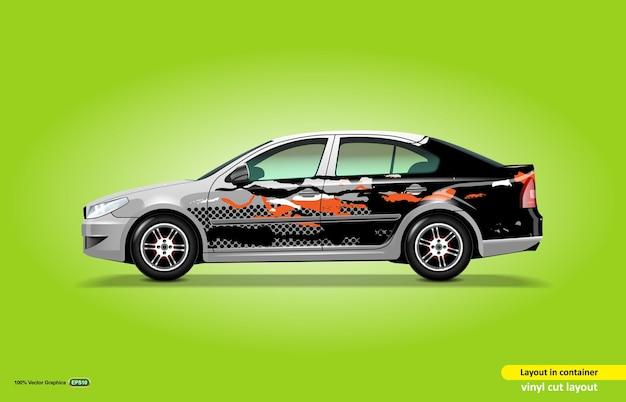 Auto-design-aufkleber-wrap, für weiße limousine, abstraktes design-kit für den täglichen gebrauch.