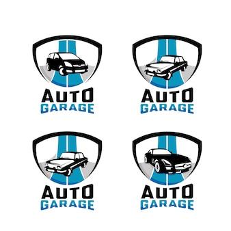 Auto-garage-emblem-logo-design-vorlagen-set