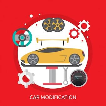 Auto-hintergrund-design