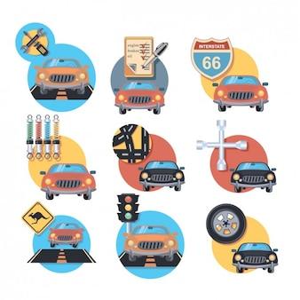 Auto icon set