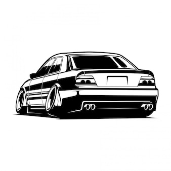 Auto jdm-vektor-illustration