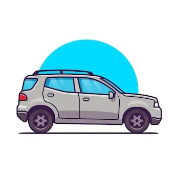 Auto-karikatur. fahrzeugtransport isoliert
