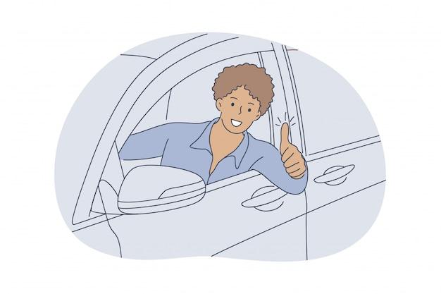 Auto, kaufen, fahren, genehmigungskonzept